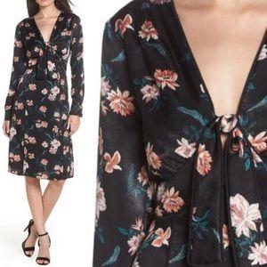 Chelsea28 Floral Black Knot Dress XL